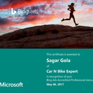 Bing Certification Exam Sheet