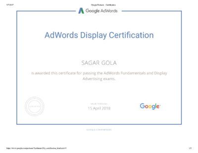 Google AdWords Display Advertising Exam Question & Answers Sheet