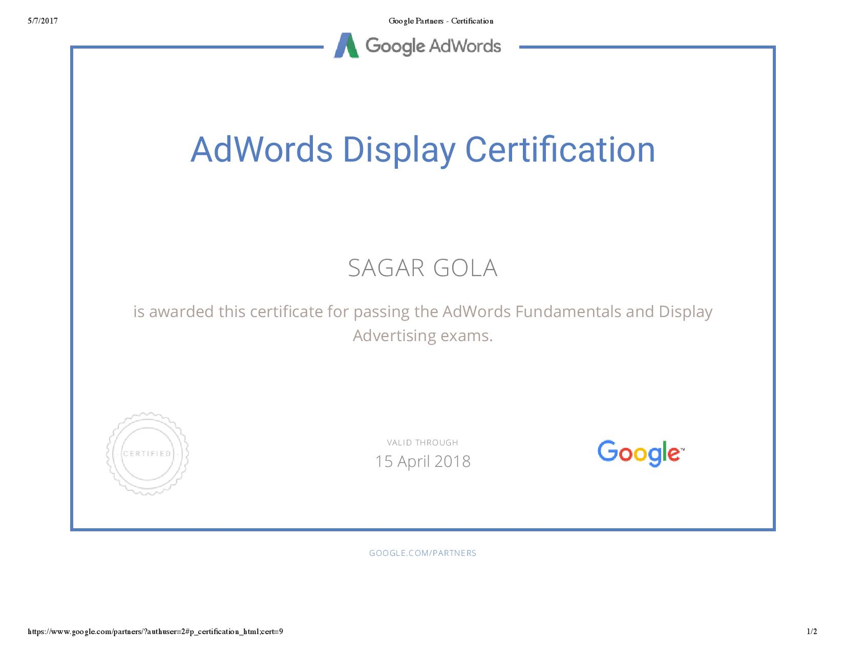 Google Adwords Certification Review