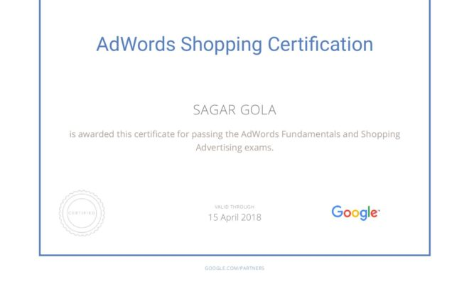 Google AdWords Shopping Advertising Exam Question & Answers Sheet