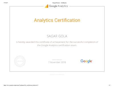 Google Analytics Certification Exam Question & Answers Sheet-page