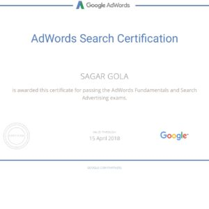 Google AdWords Search Advertising Exam Sheet 2017