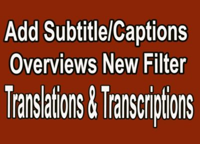 Translations and Transcriptions in YouTube and Community Contribution